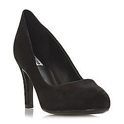 Dune - Black suede 'Amalei' mid stiletto heel court shoes