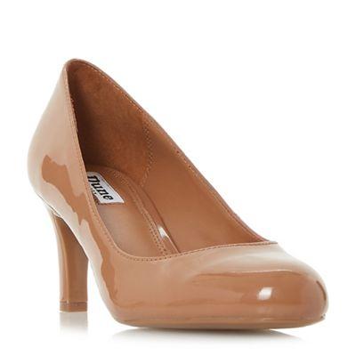 Dune - Almond 'Amalei' mid stiletto heel court shoes