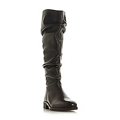 Dune - Black leather 'Tabby' knee high boots