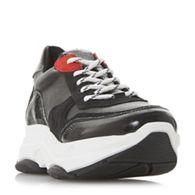 Steve Madden - Black leather  Zela sm  lace up trainers 799951819