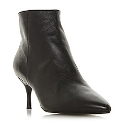 Dune - Black leather 'Orra' mid kitten heel ankle boots
