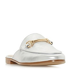 Dune - Silver leather 'Gene' loafers