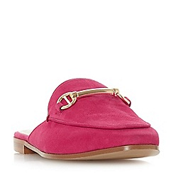 Dune - Pink leather 'Gene' loafers