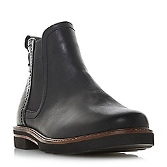 Dune - Black leather 'Quarter' chelsea boots