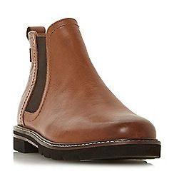 Dune - Tan leather 'Quarter' chelsea boots