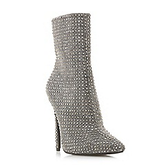 Steve Madden - Silver 'Wifey Steve Madden' high stiletto heel ankle boots