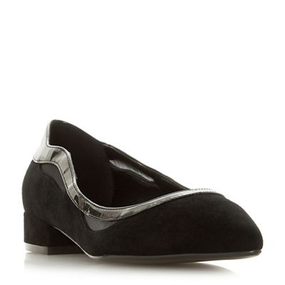 Dune - Black suede 'Bradshawe' shoes block heel court shoes 'Bradshawe' aef0f2