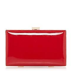 Dune - Red 'Brocco' gold trim clutch bag