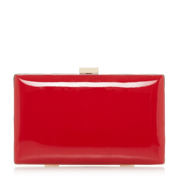 Dune gold clutch Red 'Brocco' bag trim rqwrPO