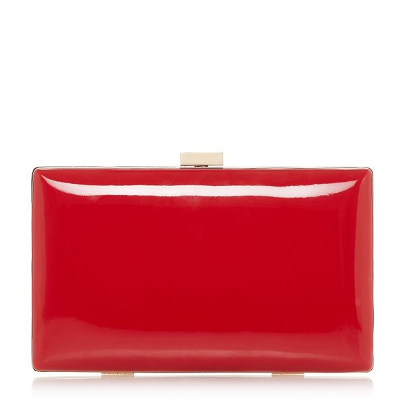 'Brocco' Red trim gold Dune bag clutch 5C86xvqgw