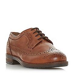 Dune - Tan leather 'Felixe' block heel brogues