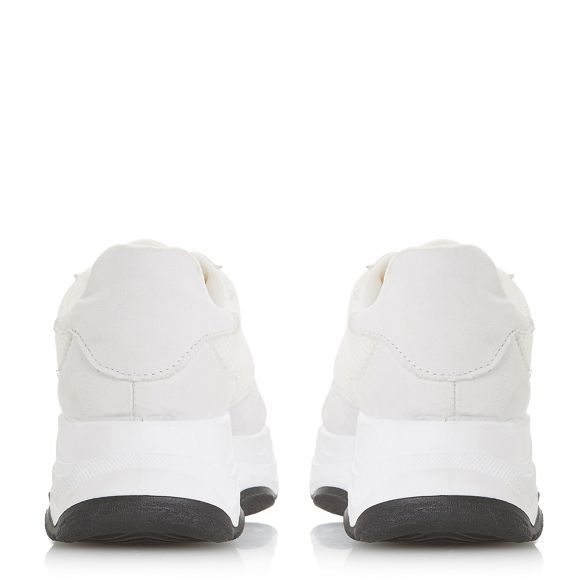 'Eeva' casual Dune Heels Over Head White trainers by 4XBpZq