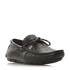 Dune - Black 'Bosston' lace detail driver loafers