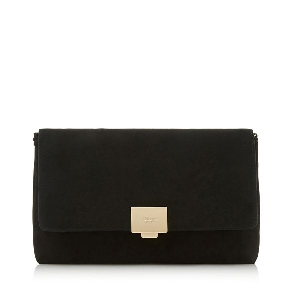 'Bellairs' Black print clutch Dune Black Dune gqfFzF