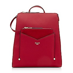 Dune - Red 'Ducky' removable front pouch backpack