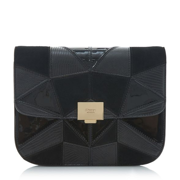 patchwork 'Datchy' Black clutch Dune bag 6EYUq6ARzW