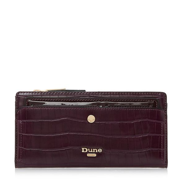 effect croc Dune purse Dark red 'Kenice' wqHv6nxRq