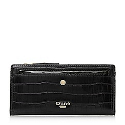 Dune - Black 'Kenice' croc-effect purse