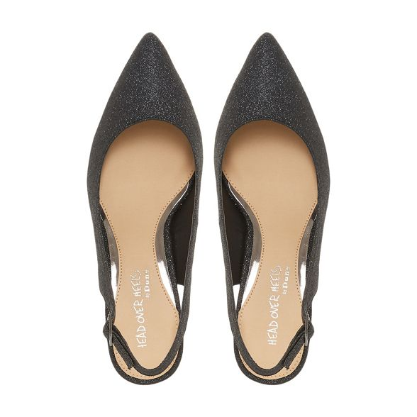 heel Over Heels slingbacks Black kitten Head by Dune 'Corrin' Aax0q4f