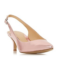 Head Over Heels by Dune - Pink 'Corrin' kitten heel slingbacks