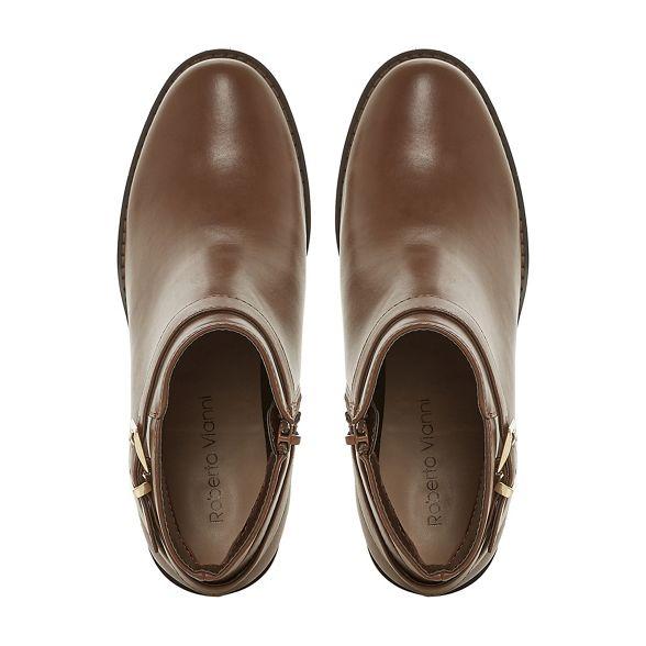 ankle Vianni block Tan heel Roberto boots 'Pollee' vBf1wXddnq