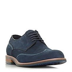 Dune - Navy 'Bache' wingtip brogue shoes