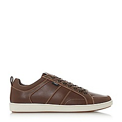Dune - Brown 'Tomkin' low lace up trainers