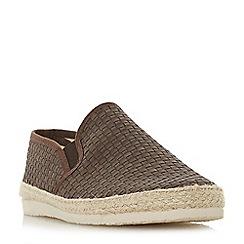 Dune - Brown 'Firmino' woven espadrilles trim slip-on shoes