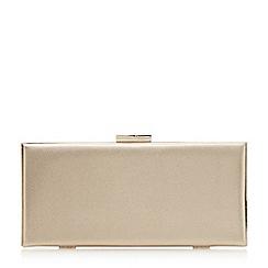 Dune - Gold 'Barbe' gold trim clutch bag