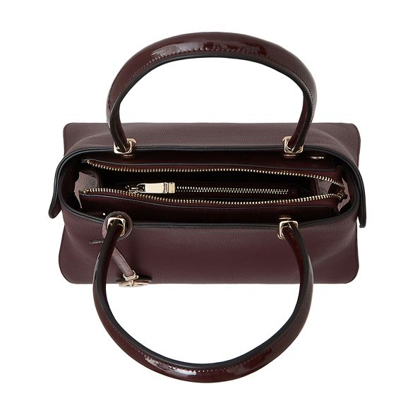 inverted bag Dune large Dark red 'Dolivia' gusset shoulder IaxPAOqnxw