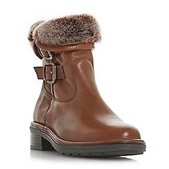 Dune - Tan leather 'Rita' calf boots