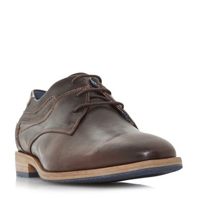 Dune - Brown 'Buckhursts' textured insert casual shoes