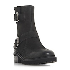 Steve Madden - Black leather 'Worker' mid biker boots