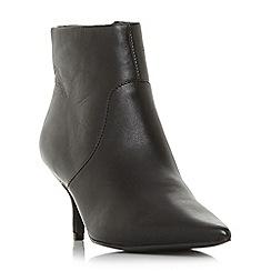 Steve Madden - Black leather 'Rome' mid stiletto heel boots