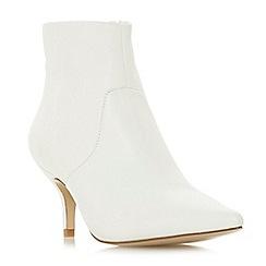 Steve Madden - White leather 'Rome Steve Madden' mid stiletto heel ankle boots