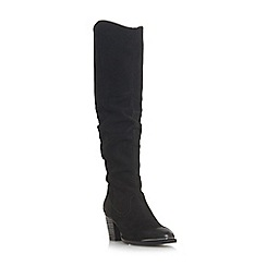 Steve Madden - Black leather 'Rova' block heel knee high boots
