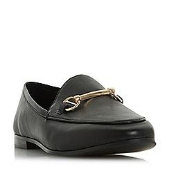 Dune - Black leather 'Guiltt' loafers