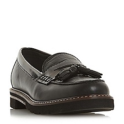 Dune - Black leather 'Gennia' loafers