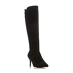 Dune - Black suede 'Sakuraa' high stiletto heel knee high boots