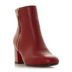 Dune - Red suede 'Orlla' block heel ankle boots