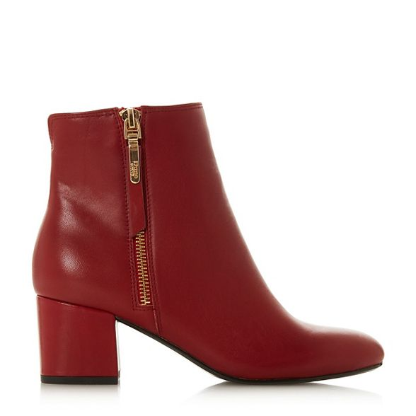 suede ankle block 'Orlla' Dune Red boots heel vUq5cn7zWH