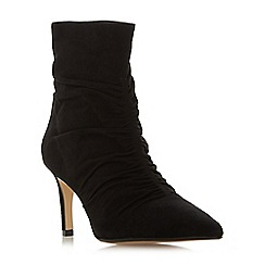 Dune - Black suede 'Oasis' high stiletto heel ankle boots