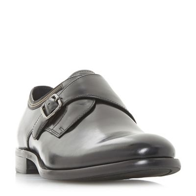 Bertie - Black 'Pilcrow' monk strap shoes