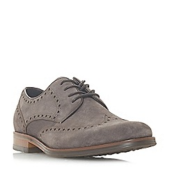 Bertie - Grey 'Pabulum' brogue detailed gibson shoes