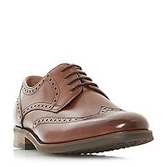 Bertie - Tan 'Pabulum' brogue detailed gibson shoes