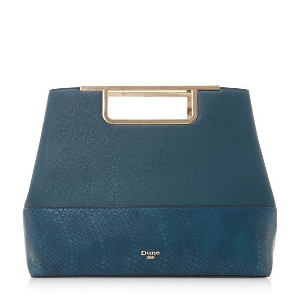 'Dandle' Mid blue Dune handle bag gold EUpfWcq