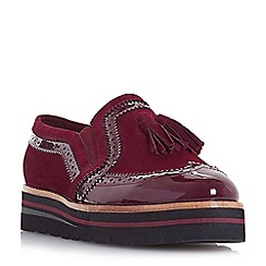 Dune - Maroon suede 'Glorify' loafers