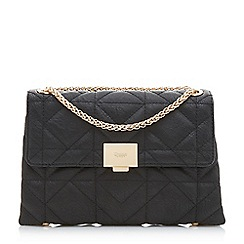 Dune - Black 'Evangelina' quilted shoulder bag