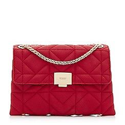 Dune - Red 'Evangelina' quilted shoulder bag