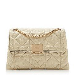 Dune - Gold 'Evangelina' quilted shoulder bag